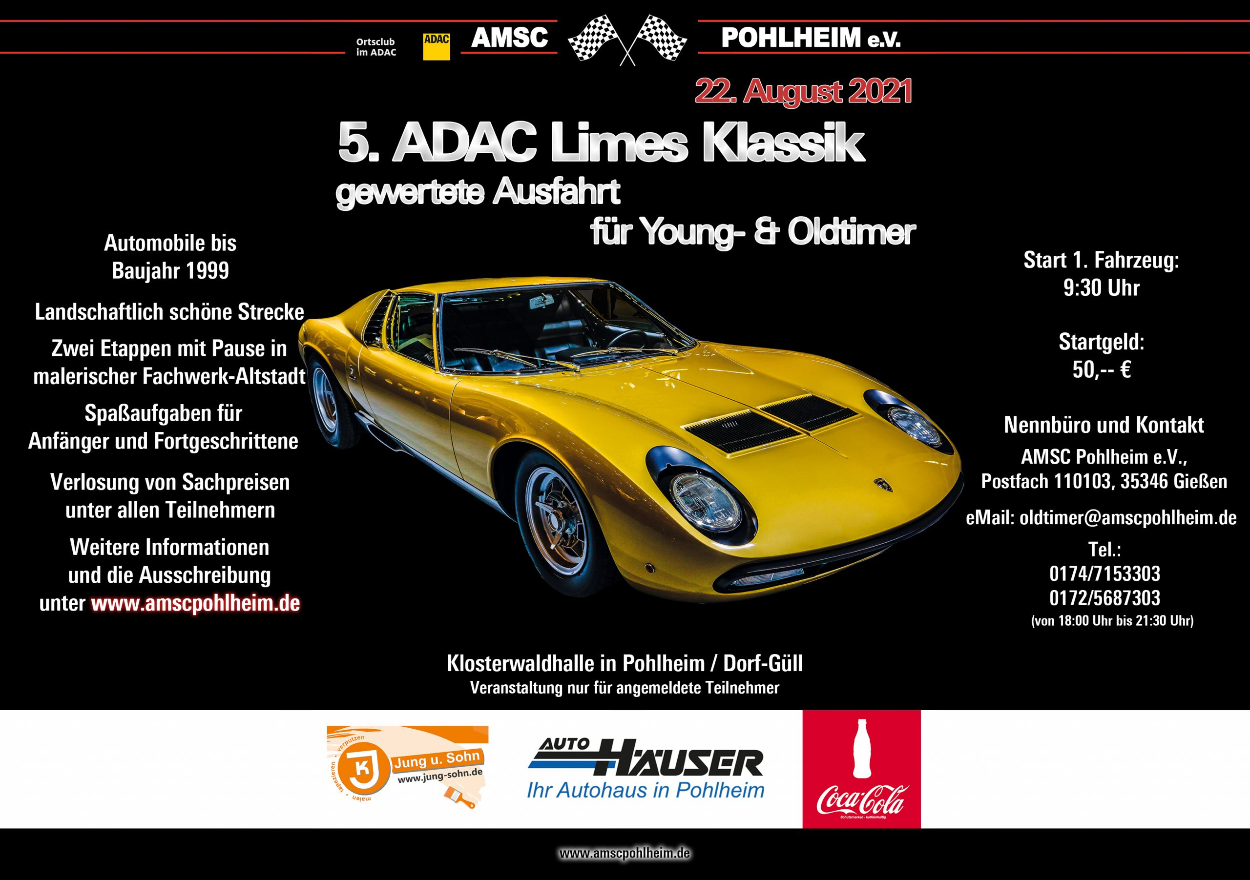 5. ADAC Limes Klassik Online Flyer